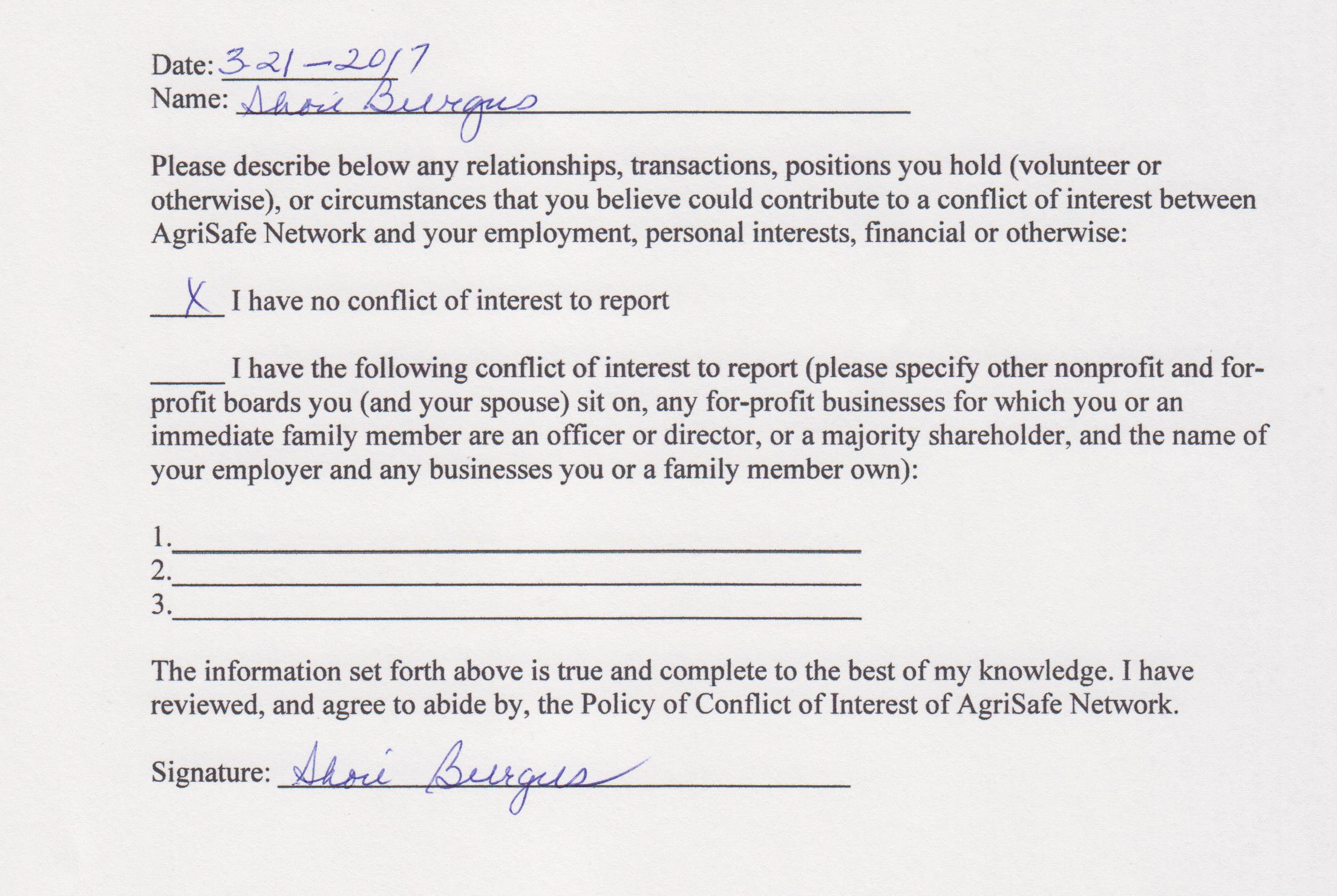 Board of directors conflict of interest form 1betcityfo Choice Image