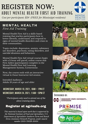 flyer with information about MHFA